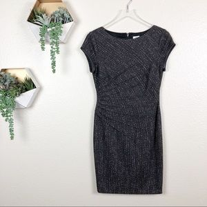 Cache fitted pintuck business dress